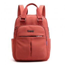 Orange Mini Girls Backpack Laptop Travel Bag Handbag With Usb Charging Port