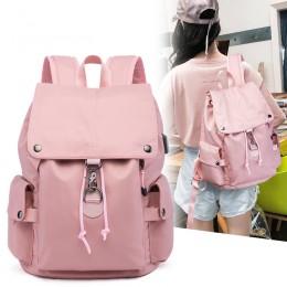 Pink Unique Outdoor Backpack For Teens Nylon Travel Bag Lightweight Waterproof Bag