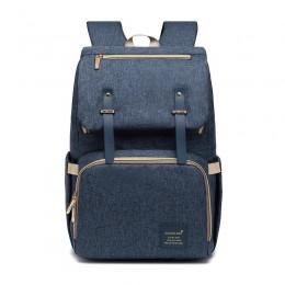 Blue Bookbags Laptop Vintage College Backpack Travel Bookbag Laptop Bookbags With Usb Charging Port