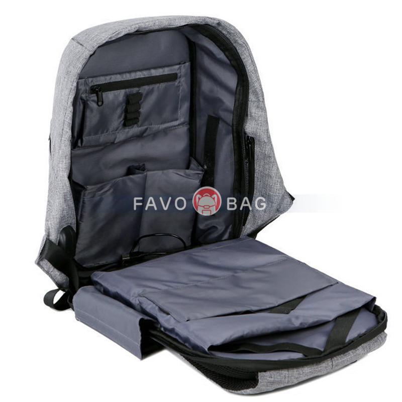 Business School Bookbag With Usb Charging Port For Men & Women