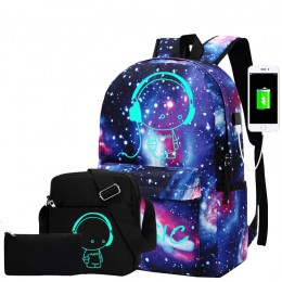 Water-Resistant Schoolbag With Usb Charging Port