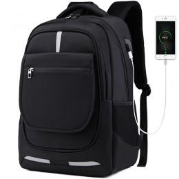 Black Men Women Laptop Backpack Computer Tech Usb College School Bag