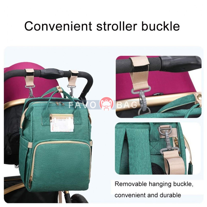 Bed Diaper Bag Backpack Baby Portable Expandable Changing Bag Tope Level