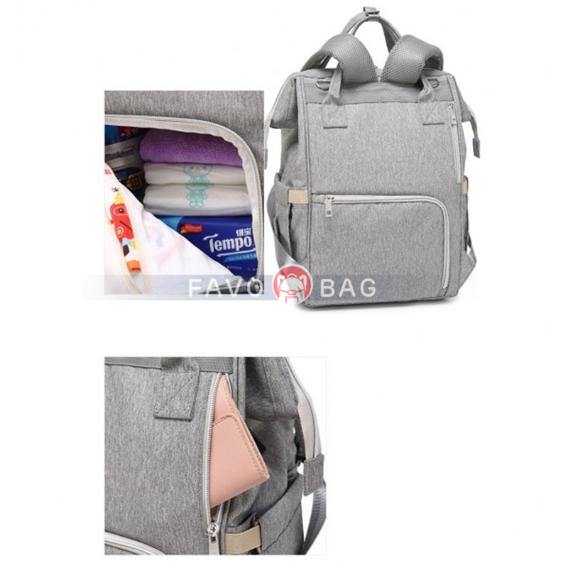Upgrade USB Charger Diaper Bag Backpack for Mum Daddy Waterproof Oxford Outdoor Bag Handbag