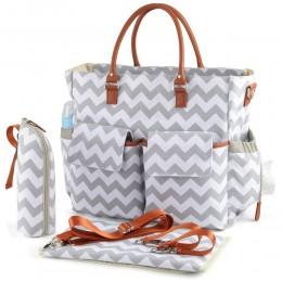 Large Capacity Diaper Bag Tote Bag Big Convertible Baby Bag Handbag for Mom & Dad