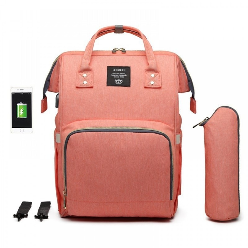 Unique Diaper Bag Backpack Nappy Maternity Backpack for Mom Daddy with USB Charging Port