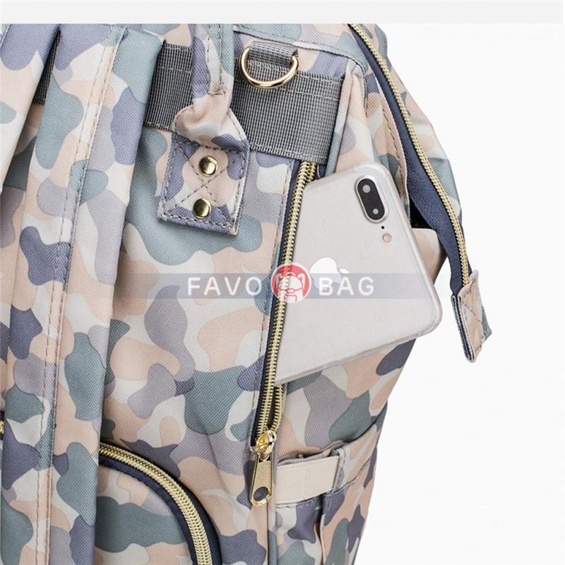 Women Multifunctional Diaper Bag Backpack Fun Printing Water-resistant Baby Nappy Bag Maternity Bag for Mum