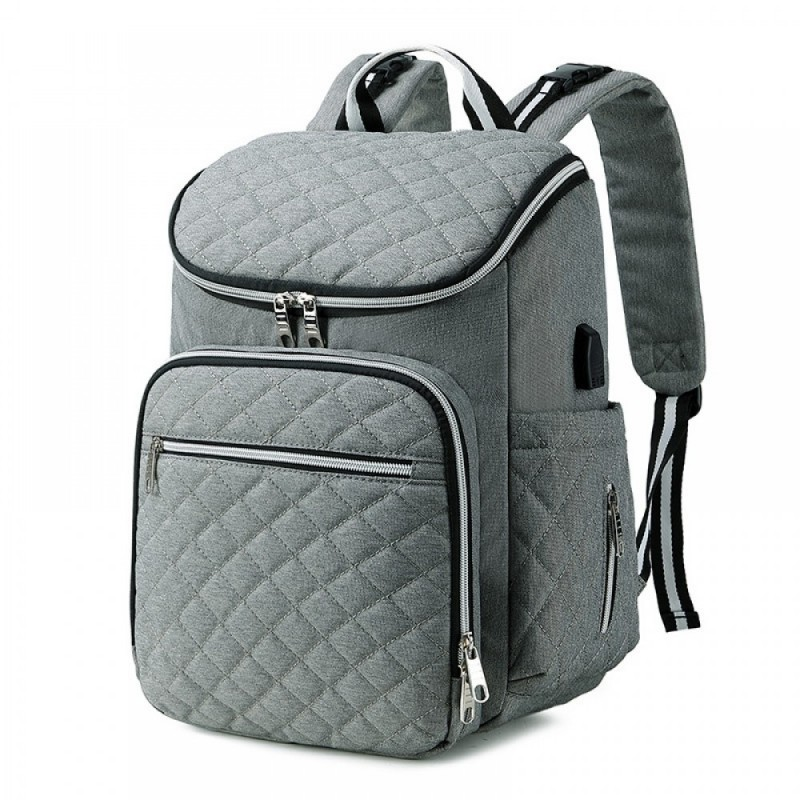 Diaper Bag Backpack Soft Multi-Function Baby Travel Bag with Changing Pad & Packing Cubes