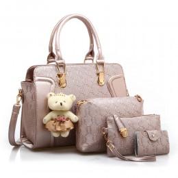 4pcs Handbag Set for Women Tote Shoulder Bags Top Satchel Purses