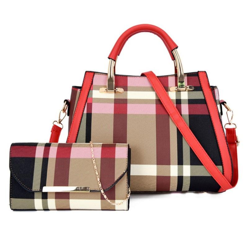 2 Pieces Handbag Crossbody Bag for Women Big Shoulder Bag