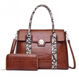 Ladies Handbags Purses Top Handle Shoulder Bags Work Tote with Matching Wallet