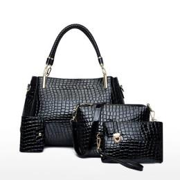 4 Pcs Women Handbags Tote Bag Shoulder Bag Top Handle Satchel Purse Set
