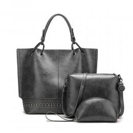 Soft PU 3 Piece Handbag Set Top Level