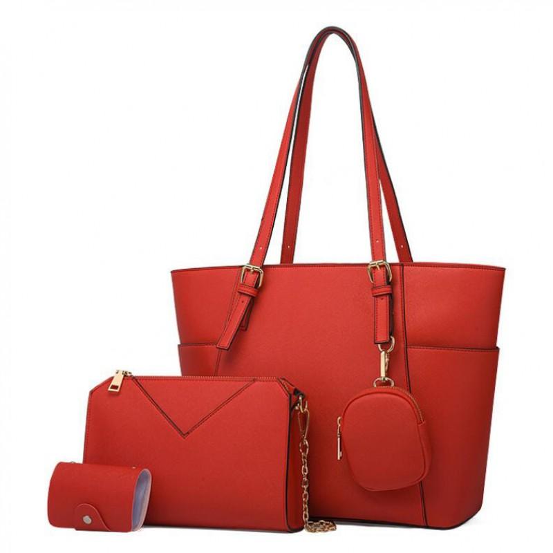 Women's Bucket Bags Shoulder Purses Handbag Set Medium Crossbody Bag Tote Purse