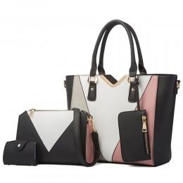Ladies' Synthetic Leather Handbags Tote Bag Shoulder Bag Top Handle Satchel Purse Set 4pcs