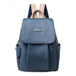Soft PU Leather Backpack for Women Mini Commute Bag