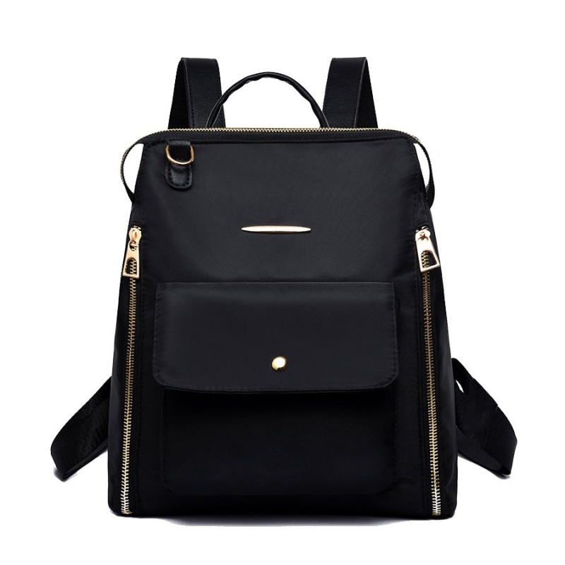 Oxford Backpack for Ladies Double Zipper Shoulder Bag Daily Commute Bag