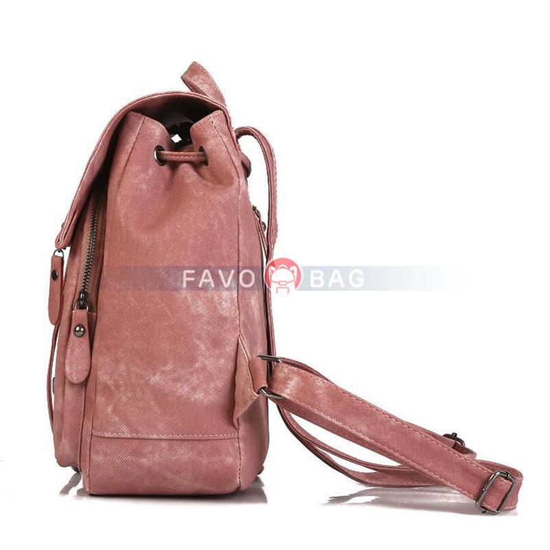 Women's Soft PU Leather Backpack Purse Mini Satchel