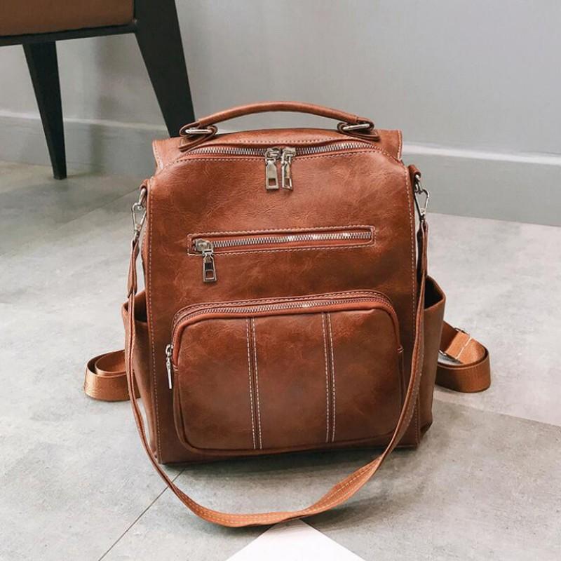 Women Backpack Purse PU Leather Designer Travel Bag Ladies Shoulder Bag