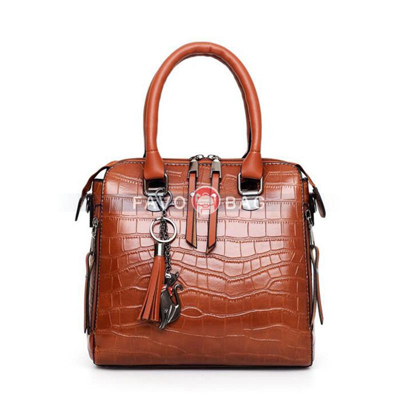 Women's Handbag 4-pieces PU Leather Shoulder Bag Ladies Working Bag Crossboday Bag with Coin Purse