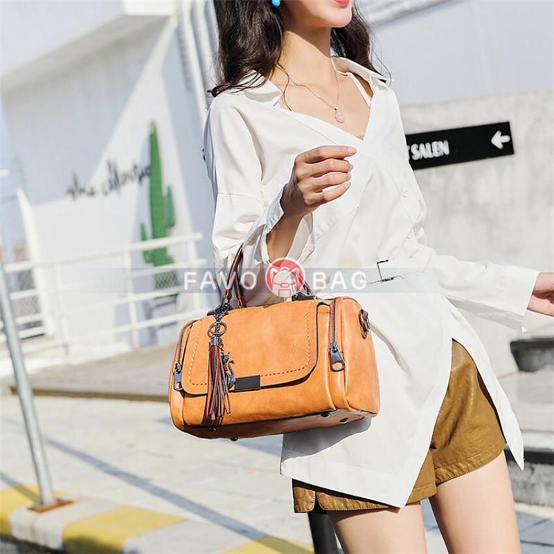 Women PU Leather Shoulder Bag Satchel Purse Handbag