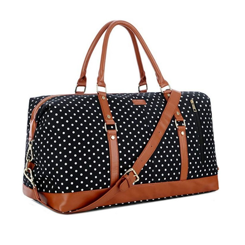 Canvas Travel Tote Duffel Bag Carry on Weekender Overnight Bag Oversized