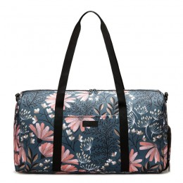 Floral Gym Duffle Bag Backpack 4 ways for Women Waterproof with Shoes Compartment