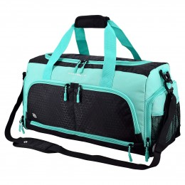 Gym Bag Duffel Bag with 10 Optimal Compartments Including Water Resistant Pouch