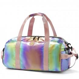 Gym Duffel Bag Women Overnight Foldable Weekender Travel Luggage