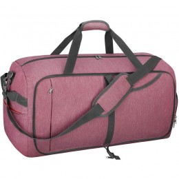 Foldable Weekender Bag with Shoes Compartment for Men Women Water-proof & Tear Resistant