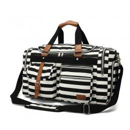Overnight Duffel Bag Shoe Pocket for Women Men Weekend Travel Tote Carry On Bag