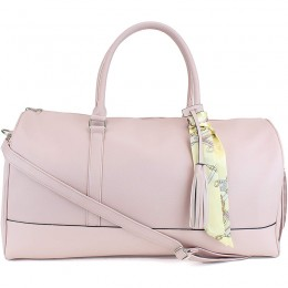 Women's Large PU Leather Weekender Duffel Bag